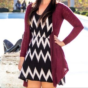 Light weight red Charlotte Russe cardigan xs s
